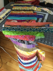 Coin quilt - sewn strips