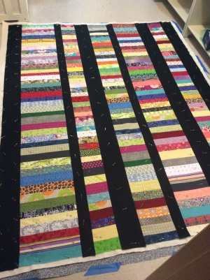 Scrappy coin quilt
