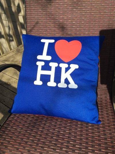 HK pillow - front