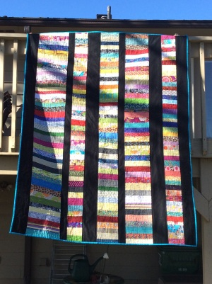 Coins quilt - finished