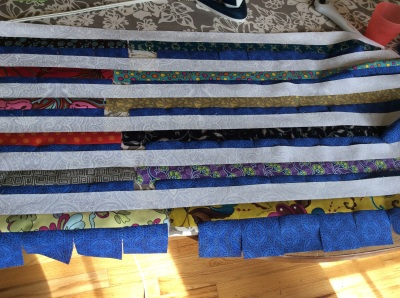 And then sewing strips and squares for a bit of a change