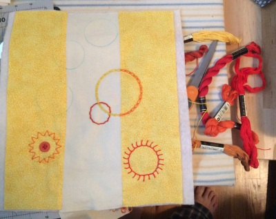 Sunny circles in progress