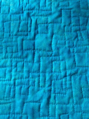 Coin quilt close up - wonky squares