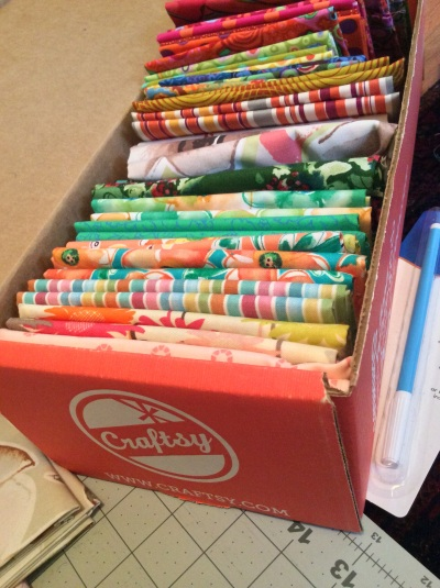 Craftsy mystery fat quarters box
