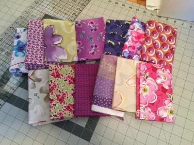 Fat quarters for spring fling quilt