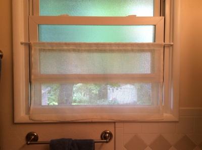 Woven linen curtain