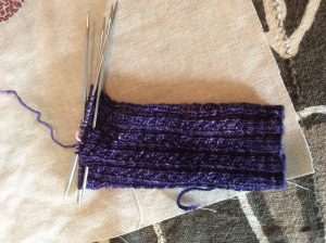 Hedgerow sock in progress