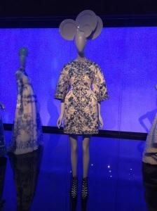 China blue and white dress