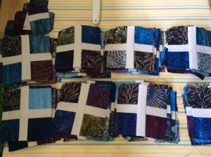 A's quilt in progress