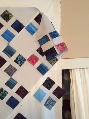 I ran out of wall before I ran out of quilt