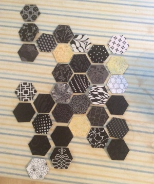 Black and white hexagons
