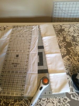 Making a pillow case border