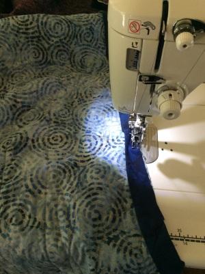 Moroccan tiles quilt binding