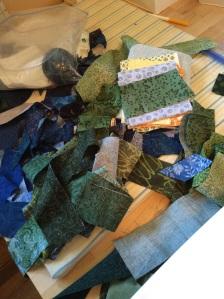 Green tree scraps