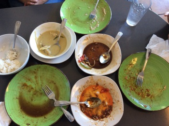 Empty Thai lunch dishes
