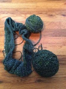 Handspun cowl 2 a green