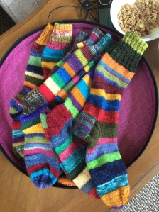 Paige's socks of many colors