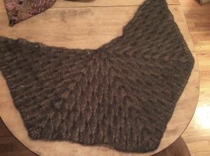 Mohair silk Nypon shawl