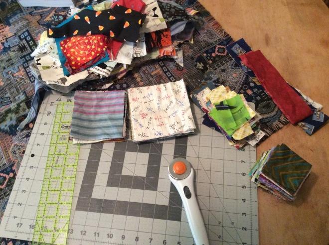 Scrap cutting - squares