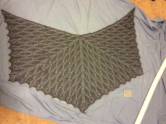 Nypon lace shawl