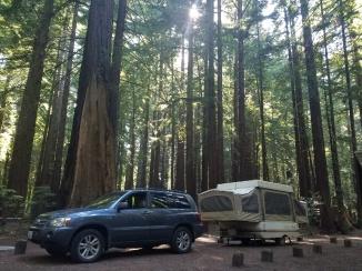 Trailer at Burlington camp